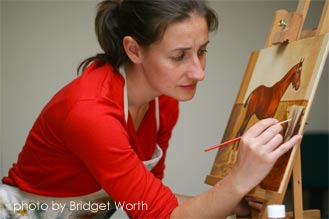 Ali Bannister paints Joey, War Horse