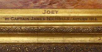 Inscription from War Horse: Joey, by Captain James Nicholls
