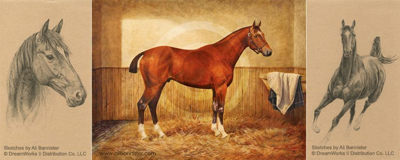 War Horse Artwork by Ali Bannister